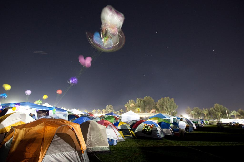 Coachella Camping Baloons and Orion