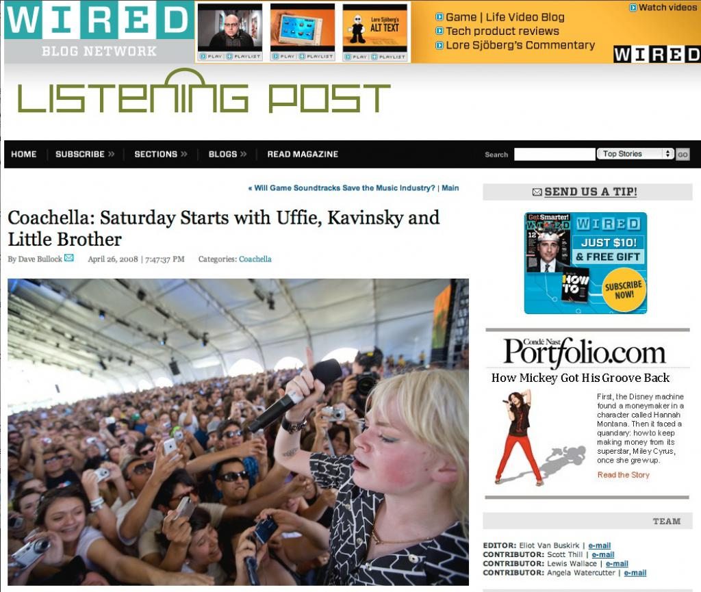 Coachella Coverage on Wired