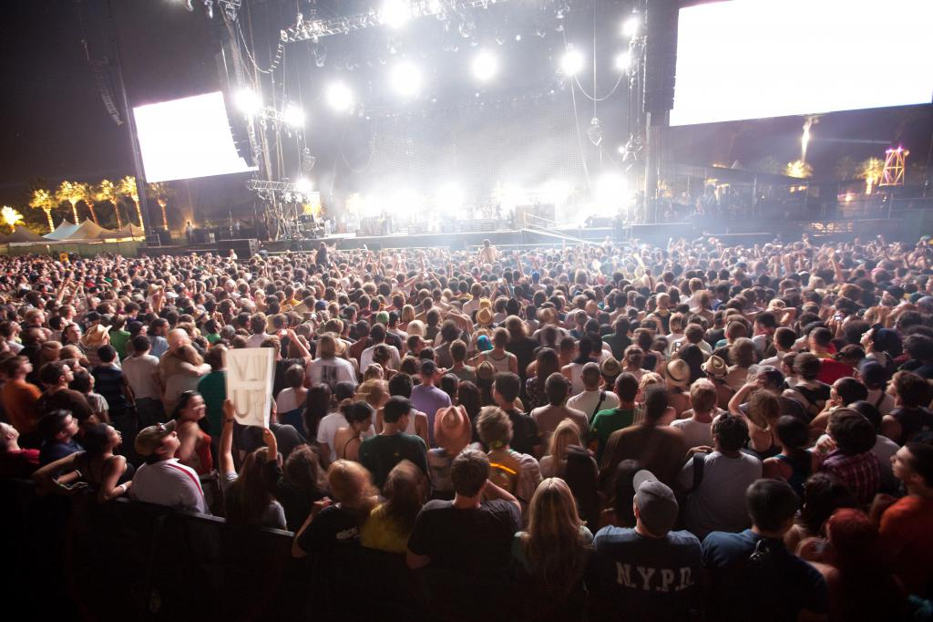 Coachella Crowd for The Killers