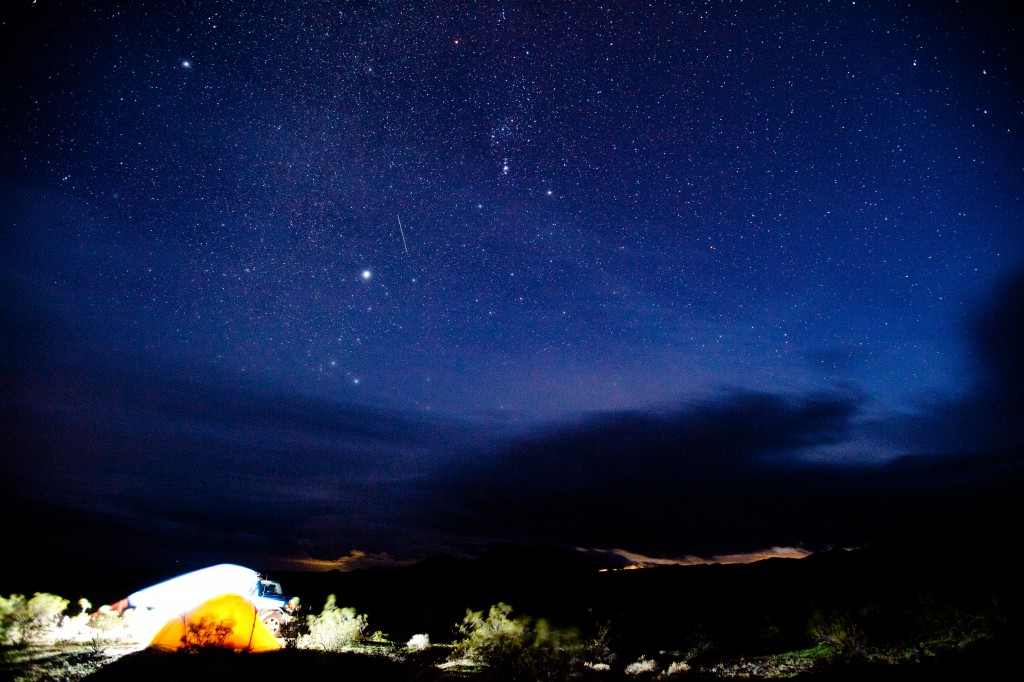 Death Valley Night Sky and Tent