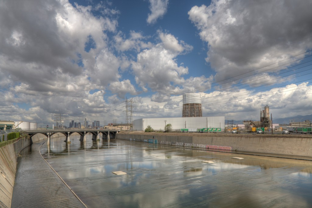 Downtown Los Angeles and LA River