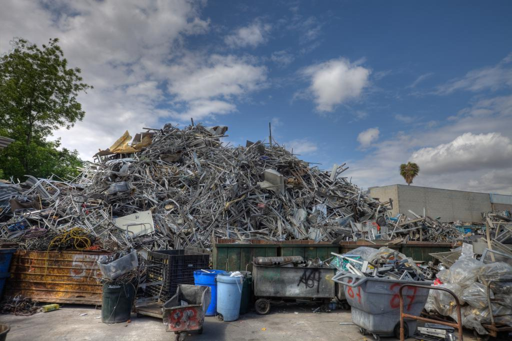 Giant Pile of Aluminum Scrap