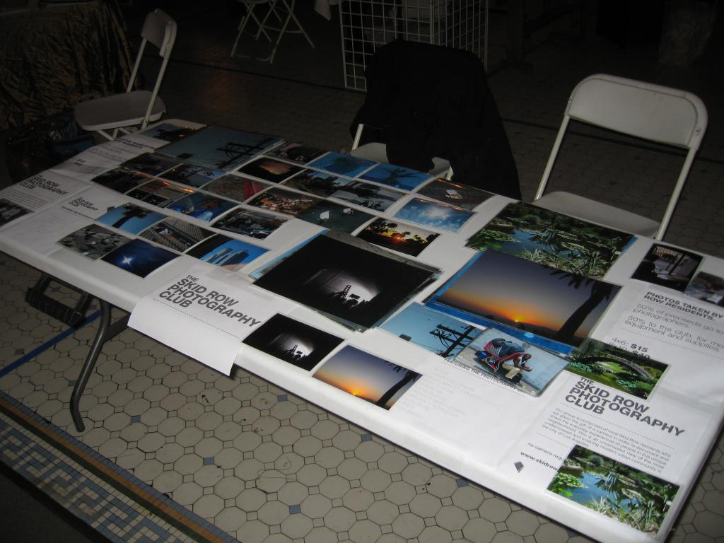 Skid Row Photo Club Table @ Old Bank Block Party Holiday Art Bazaar
