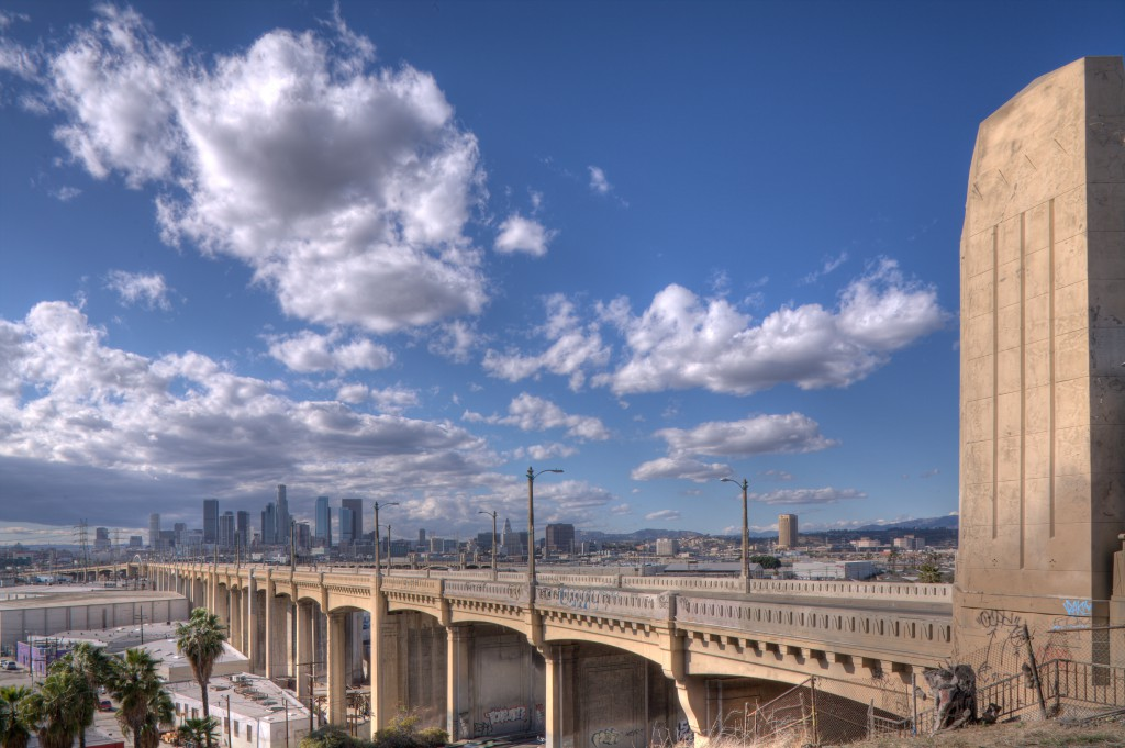 6th Street Bridge and Downtown Los Angeles