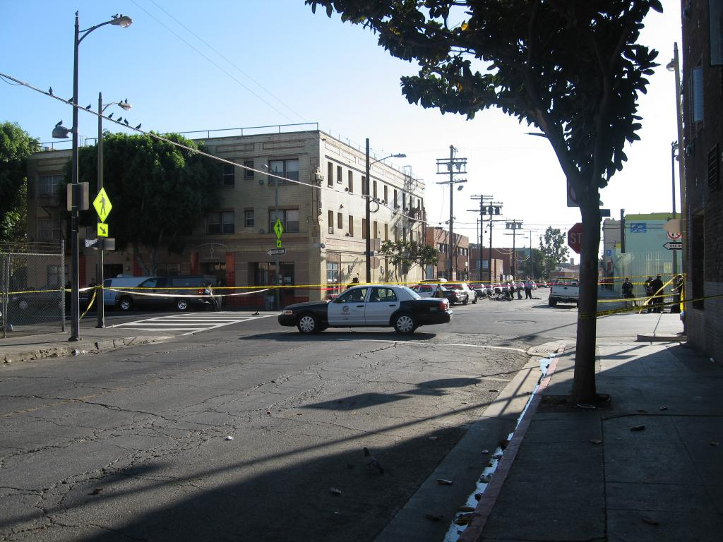 Officer Involved Shooting Crime Scene on 6th and Stanford